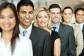 Business executives standing group of in a row Stock Image