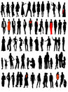 Business, fashion variety silhouettes Stock Photography