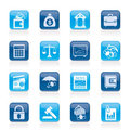 Business, finance and bank icons Stock Photography