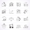Business finance and bank icons vector icon set Royalty Free Stock Photography