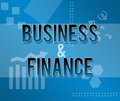 Business and finance blue themed background a techy style style with text on it Royalty Free Stock Photography