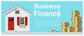 Business and Finance concept background with a little house Royalty Free Stock Photo
