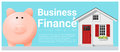 Business and Finance concept background with small house and piggy bank