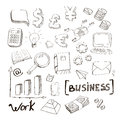 Business finance doodle hand drawn elements