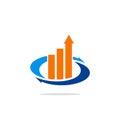 Business finance exchange arrow logo