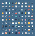 Business and finance flat icons big set design modern vector illustration of various financial service items web technology Royalty Free Stock Image