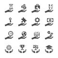 Business and finance hand icon set 2, vector eps10 Royalty Free Stock Photo