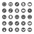 Business and finance icon set different office vector icons Stock Images