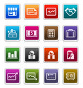 Business & Finance Icons 2 - sticker series Royalty Free Stock Image