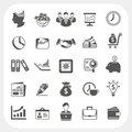 Business finance icons set eps don t use transparency Royalty Free Stock Images