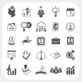 Business finance icons set eps don t use transparency Royalty Free Stock Photos