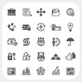 Business and finance icons set eps don t use transparency Royalty Free Stock Photography