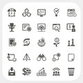 Business and finance icons set eps don t use transparency Stock Image