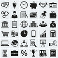 Business and finance icons. Vector set. Royalty Free Stock Photo