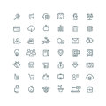Business, finance, planning, analytics, banking, affiliate marketing vector line icons set Royalty Free Stock Photo