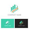 Business finance progress loop logo