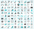 Business, finance, shipping and office icons Royalty Free Stock Photo