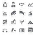 Business and finance stock exchange icons vector illustration Royalty Free Stock Photos