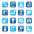 Business and finance strategies icons vector icon set Stock Photo