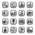Business and finance strategies icons vector icon set Stock Photography