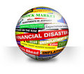 Business Financial Bad Economy Headlines Royalty Free Stock Photo