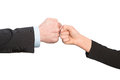 Business fist bump isolated on white background Stock Images