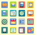 Business flat icons set for web or mobile vector illustration Royalty Free Stock Images