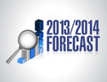 Business forecast concept illustration design over white Royalty Free Stock Photography