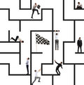 Business game of maze Royalty Free Stock Photo
