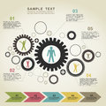 Business gear wheel a abstraction a vector illustration Royalty Free Stock Images