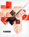 Business geometric infographic option banner for banners backgrounds presentations Stock Images