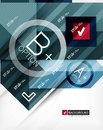 Business geometric infographic option banner for banners backgrounds presentations Royalty Free Stock Photography