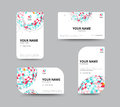 Business geometry low polygon on white background. business card