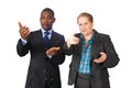Business gestures Royalty Free Stock Image