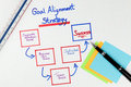 Business Goals Alignment Strategy Diagram Stock Image