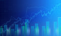 Business graph background Royalty Free Stock Photo