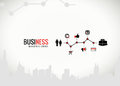 Business graphics with icons for infographics vector Stock Photography