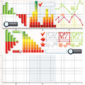 Business Graphs Collection Royalty Free Stock Photos