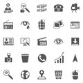 Business gray icon set vector of icons symbols and pictograms Stock Photos