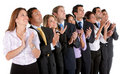 Business group applauding Royalty Free Stock Photography