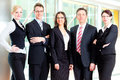 Business - group of businesspeople in office Royalty Free Stock Images
