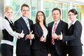 Business - group of businesspeople in office Stock Photo