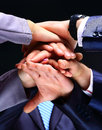 Business group with hands together teamwork concepts Royalty Free Stock Photo