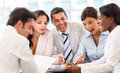 Business group working together at the office teamwork concepts Stock Photography