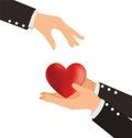 Business Hand Giving Heart