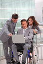 Business and handicap Royalty Free Stock Photo