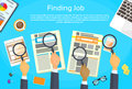 Business Hands Searching Job Newspaper