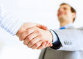 Business handshake close up image of at meeting partnership concept Royalty Free Stock Photos