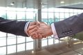 Business handshake for a closing deal closeup of Royalty Free Stock Photos