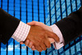 Business handshake deal Stock Photo